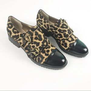 Sam Edelman | NEW Leopard Loafers Real Fur Size 5